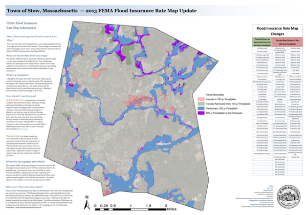 Preliminary FEMA Flood Insurance Rate Maps Issued Stow Planning - Fema insurance rate map